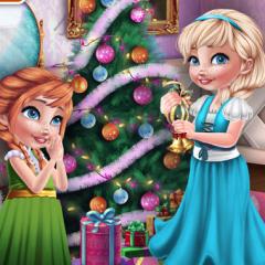 Jogo Anna e Elsa e Sua Decoração Natalina