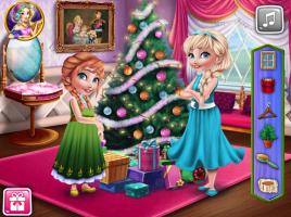 Anna e Elsa e Sua Decoração Natalina - screenshot 1