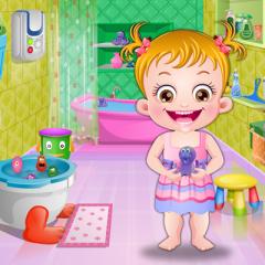 Jogo Baby Hazel e A Higiene no Banheiro