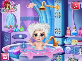 Banho da Elsa Bebê - screenshot 2