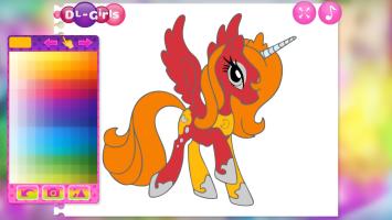 Cute Pony Coloring Book - screenshot 1