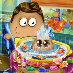 Jogo Dê Banho no Bebê Pou