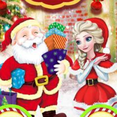 Jogo Elsa Faz Presentes de Natal