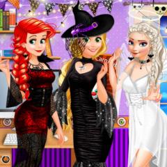 Jogo Elsa, Rapunzel e Ariel no Halloween