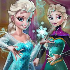 Jogo Encontre os Flocos de Neve Mágicos da Elsa