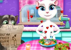 Enrolando ao Jantar Com Angela