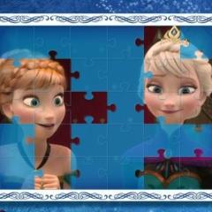 Jogo Nove Quebra Cabeças de Frozen