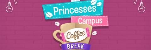 Princesas tomam um café relaxante