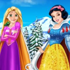 Jogo Rapunzel e Branca de Neve: Roupas de Inverno
