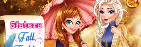 Roupas de Outono com a Anna e a Elsa