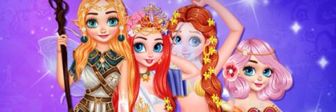 Transforme as Princesas em Criaturas Mágicas