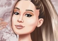 Vista a Ariana Grande para o Evento