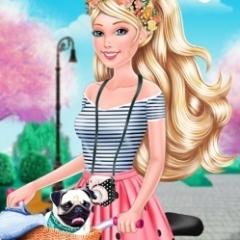 Jogo Vista a Barbie e Pinte a Bicicleta