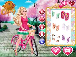 Vista a Barbie e Pinte a Bicicleta - screenshot 1