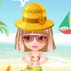 Jogo Vista Bebê Halen na Praia