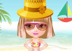 Vista Bebê Halen na Praia